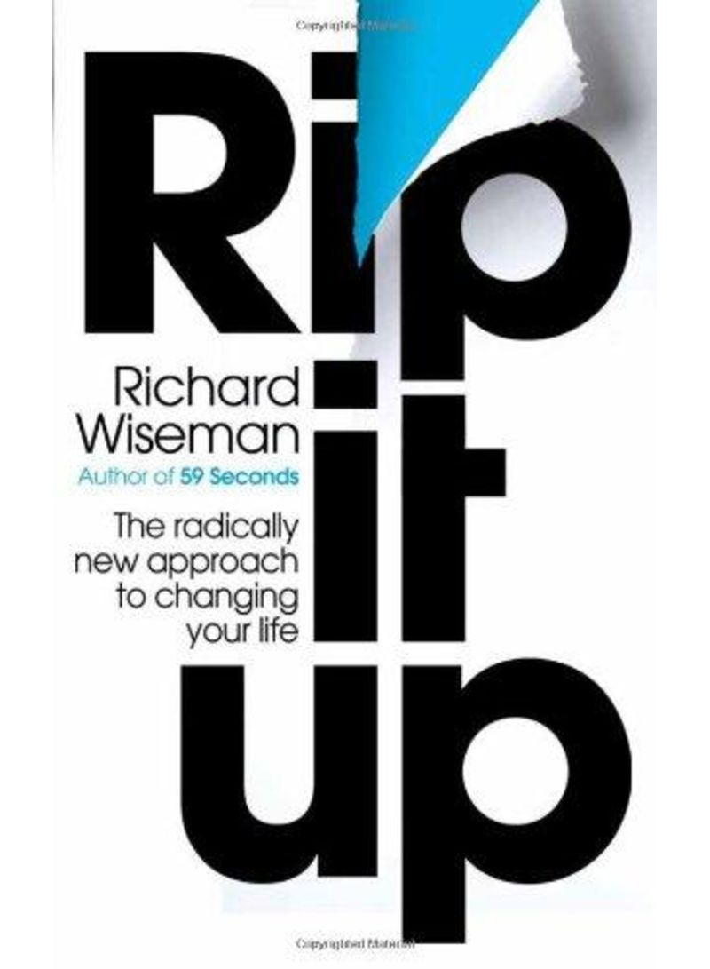 59 Seconds Richard Wiseman shop rip it up - paperback unabridged edition online in dubai, abu dhabi  and all uae