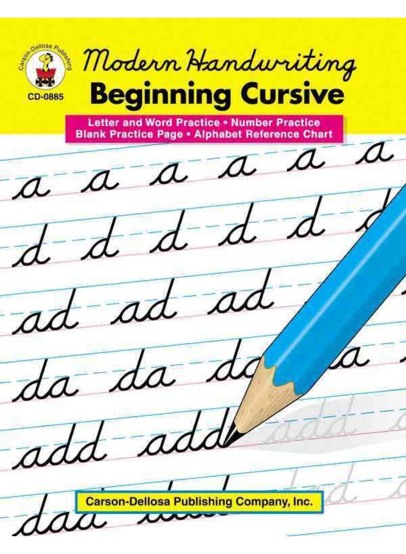 Shop Modern Handwriting: Beginning Cursive, Grades 1 - 3 - Paperback online  in Dubai, Abu Dhabi and all UAE
