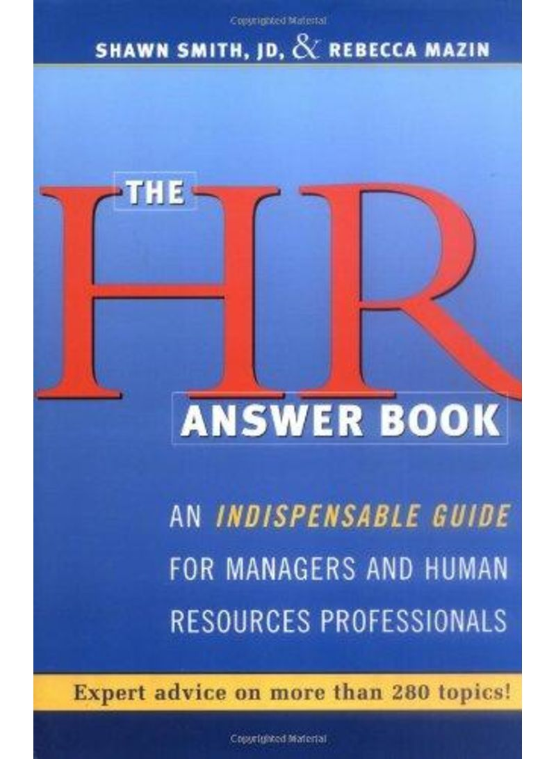 The Hr Answer Book 1 - غلاف مقوى