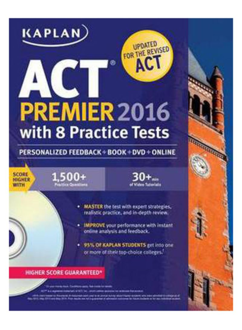Kaplan Act Premier 2016 With 8 Practice Tests: Personalized