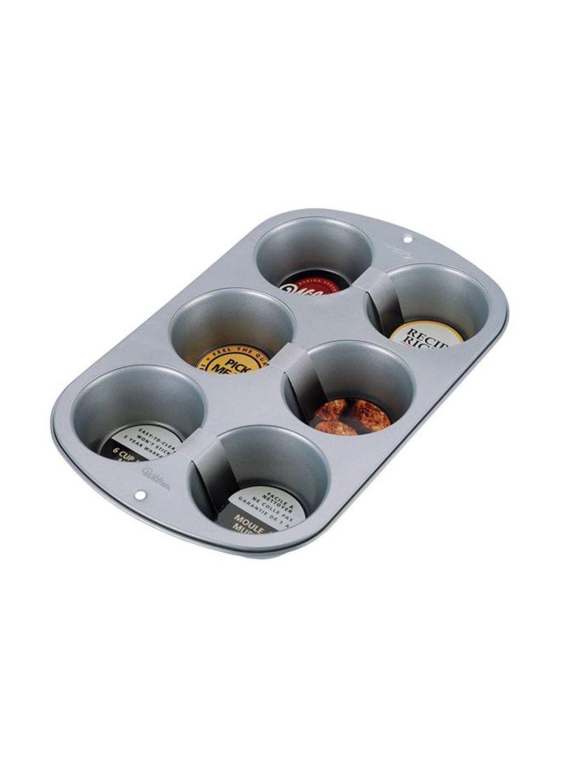 Shop Wilton Recipe Right Jumbo Muffin Pan Silver Online In Dubai