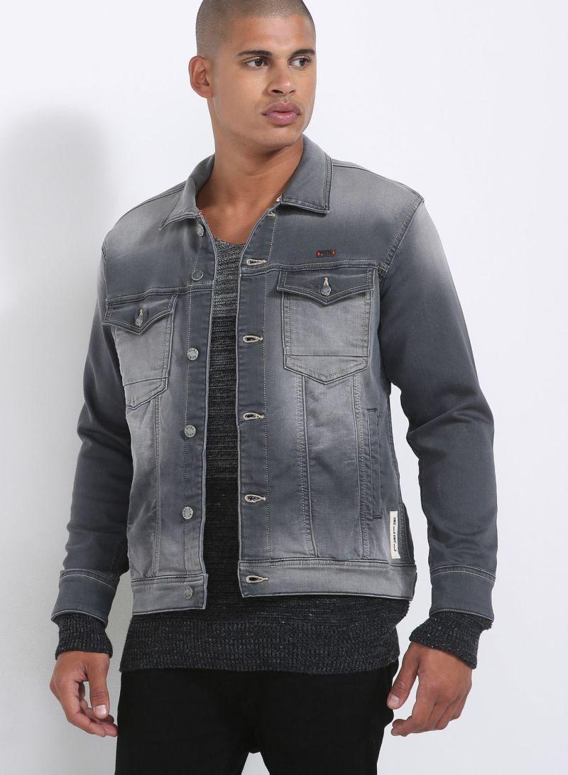 0cc0314f8533e تسوق هاي لايف ريتش لايف وجاكيت جينز رمادي أونلاين في الإمارات