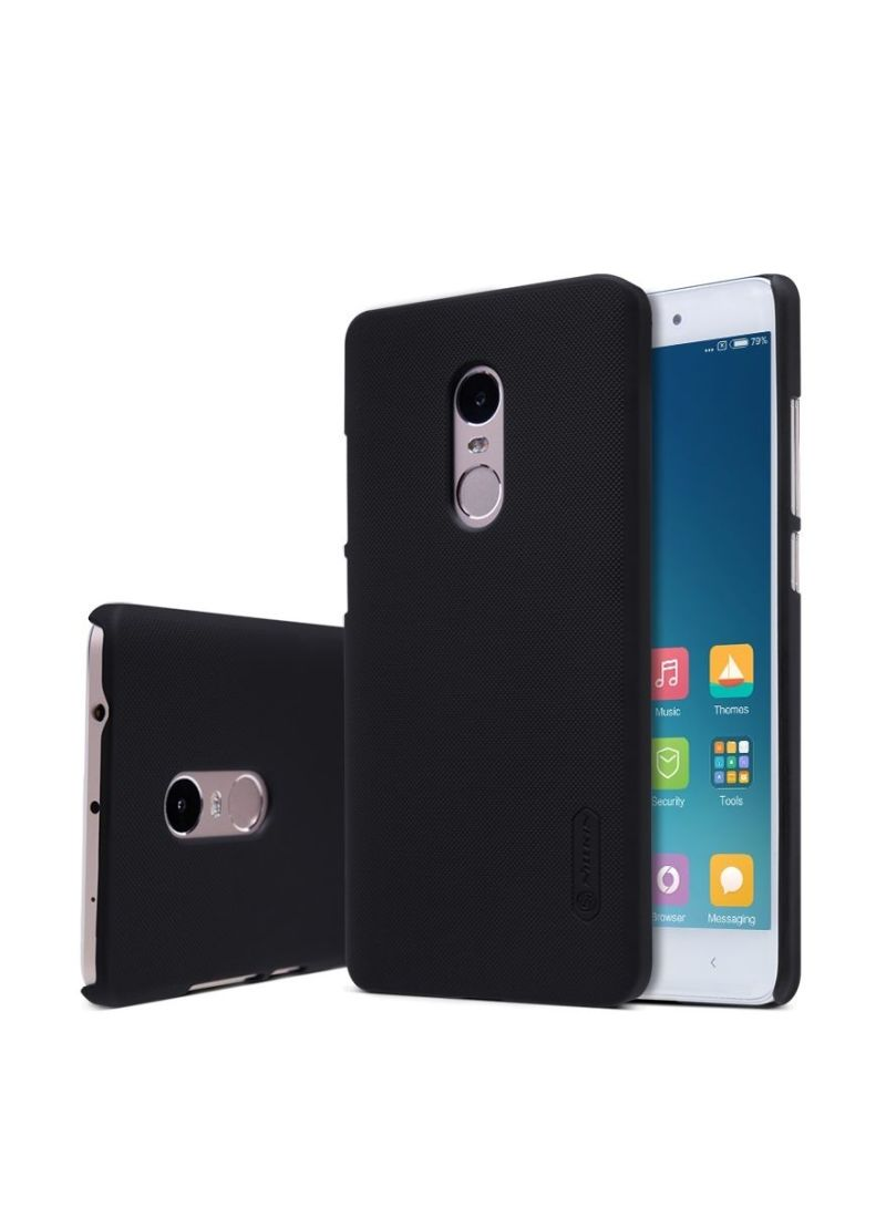 Frosted Shield Hard Case Cover With Screen Protector For Xiaomi Mi Note 4 Black