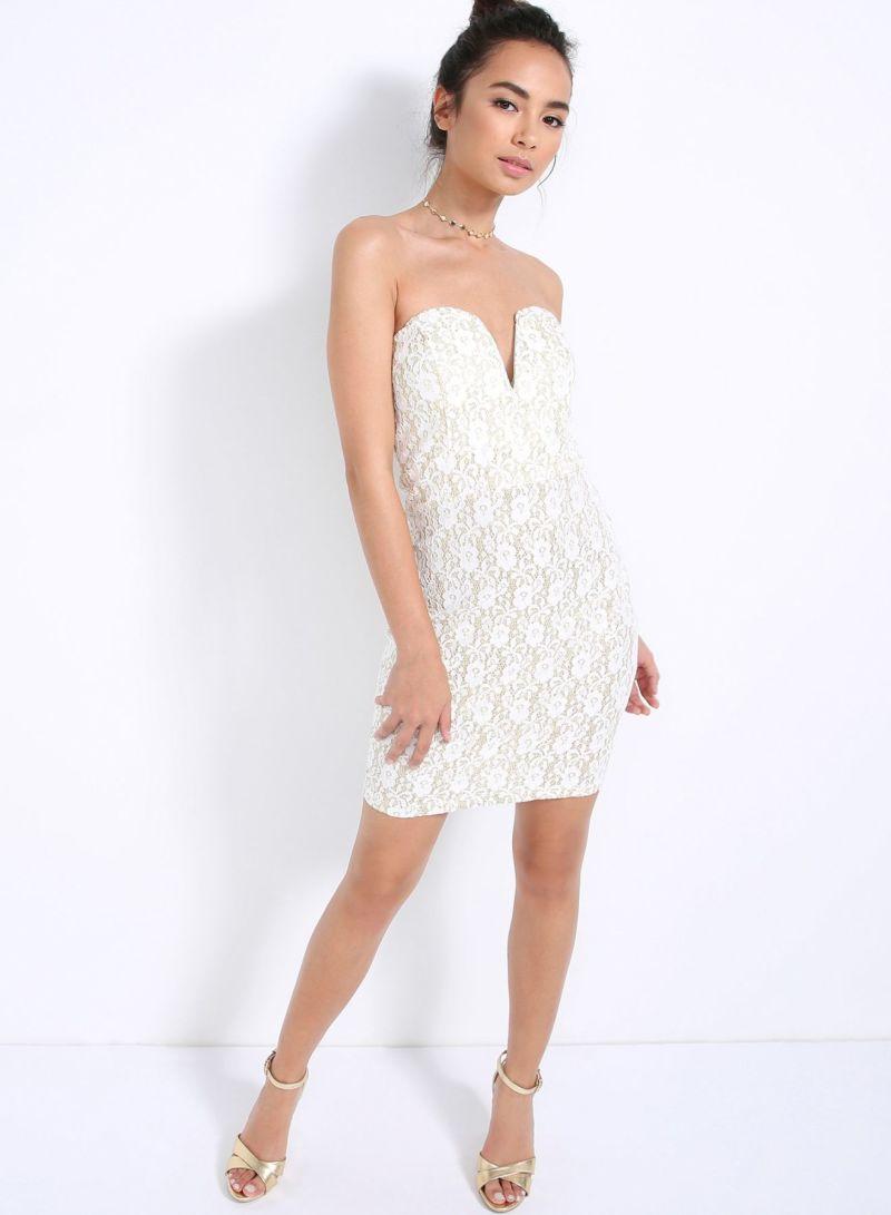 65cd411cd0 Buy Halo Mini Lace Tube Dress Crème Gold in Saudi Arabia