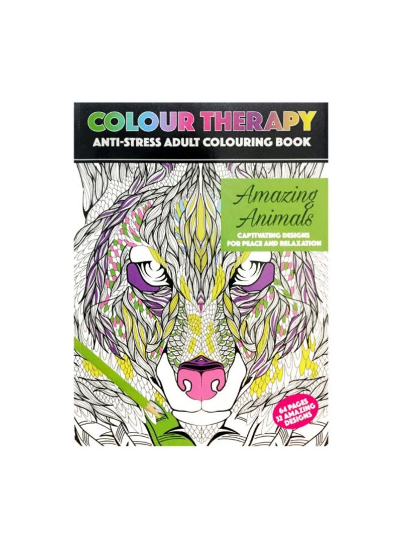 Amazing Animals 64 Page A4 Colour Therapy Book 2Nd Gen