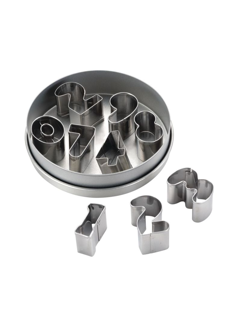 9-Piece Mini Cutter Numbers Set Chrome Price in UAE | Noon