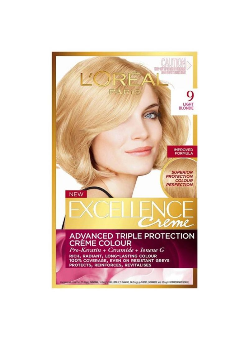 Excellence 9 Crme Hair Colour Very Light Blonde Shop Online On