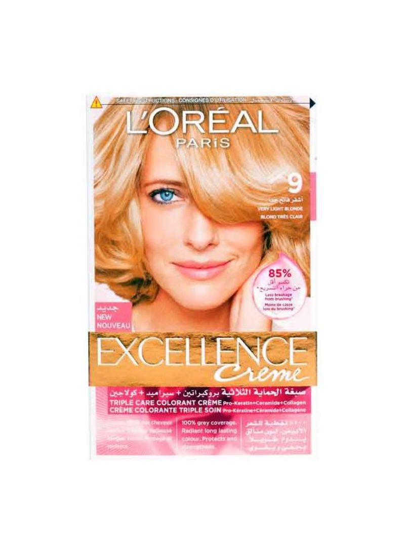 Excellence Crme Hair Color 9 Very Light Blonde Hair Care