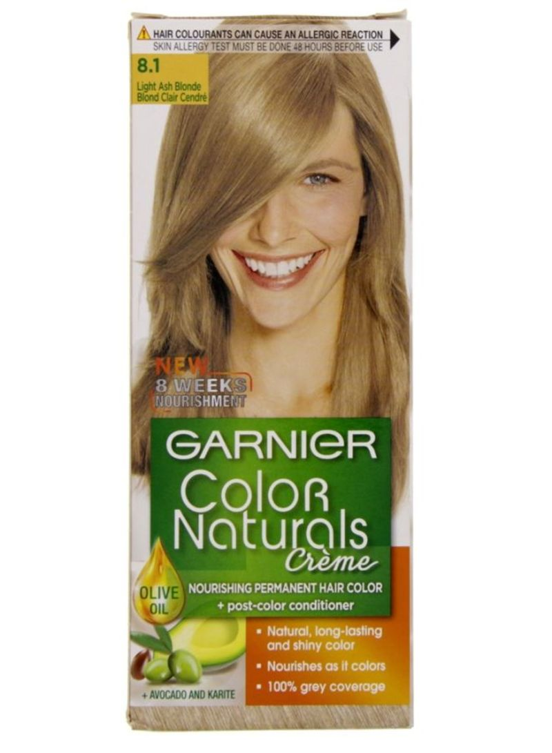 Shop Garnier Color Naturals Permament Hair Color Cream 81 Light Ash