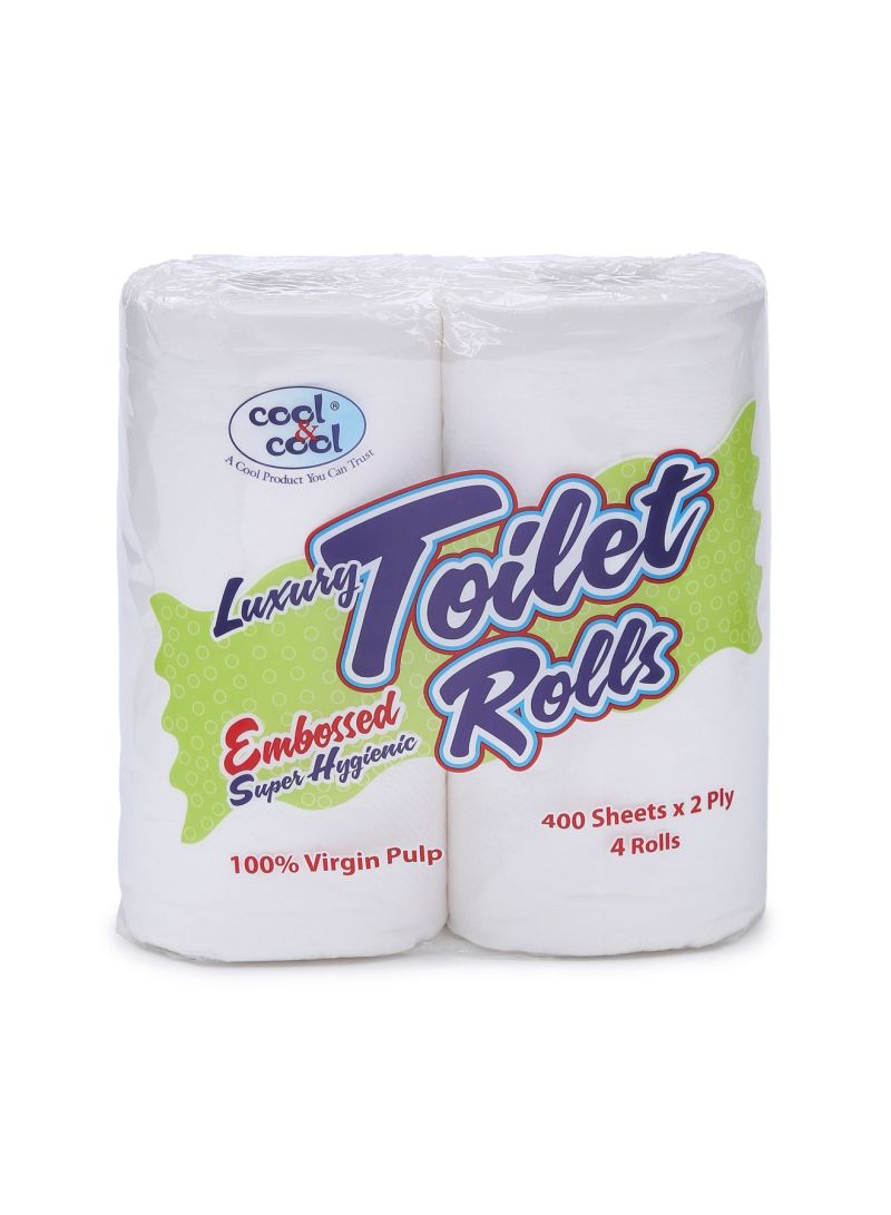 Embossed Toilet Roll, Pack Of 4 One Size