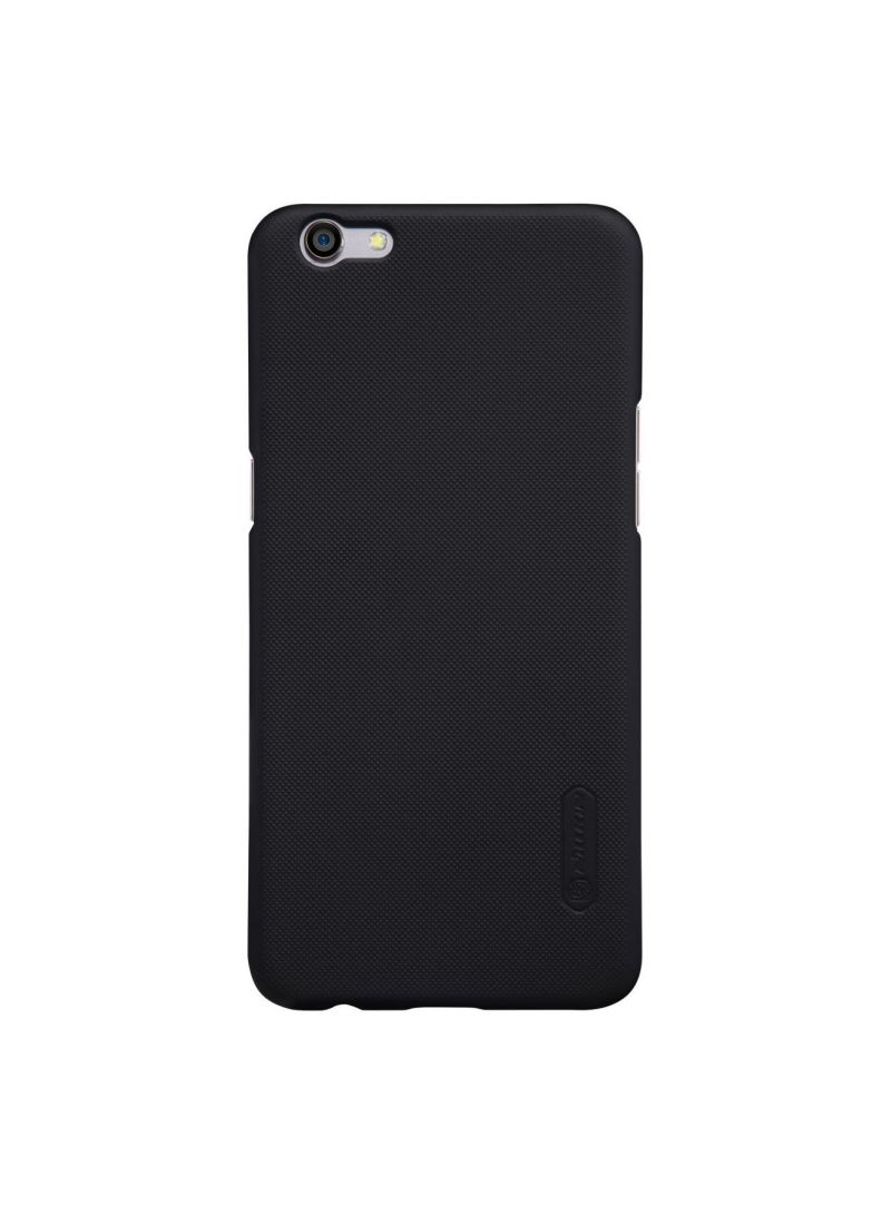 Buy Leather Super Frosted Shield Back Case For Oppo R9S Black in UAE