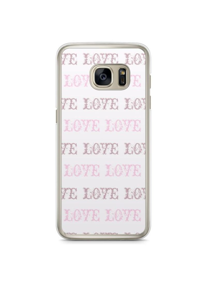 Shop Loud Universe Plastic Case For Samsung Galaxy S7 Edge White/Pink  online in Dubai, Abu Dhabi and all UAE
