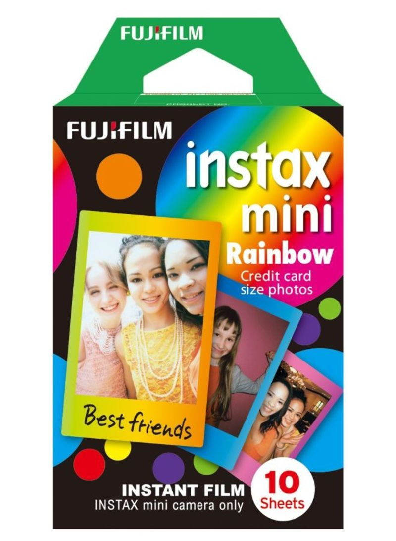 10-Piece Instant Mini Rainbow Film Black