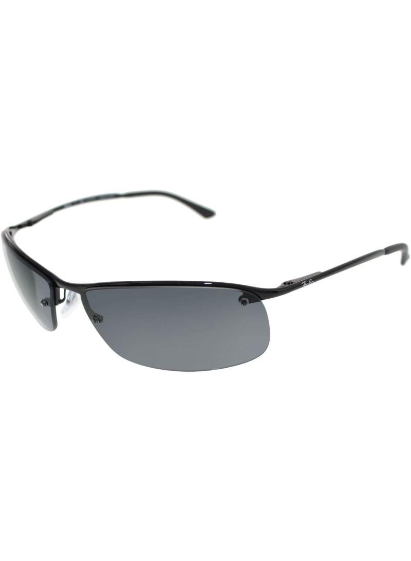 e5e97f097d7 Men s Polarized Rectangle Frame Sunglasses RB3183-002 81-63 ...