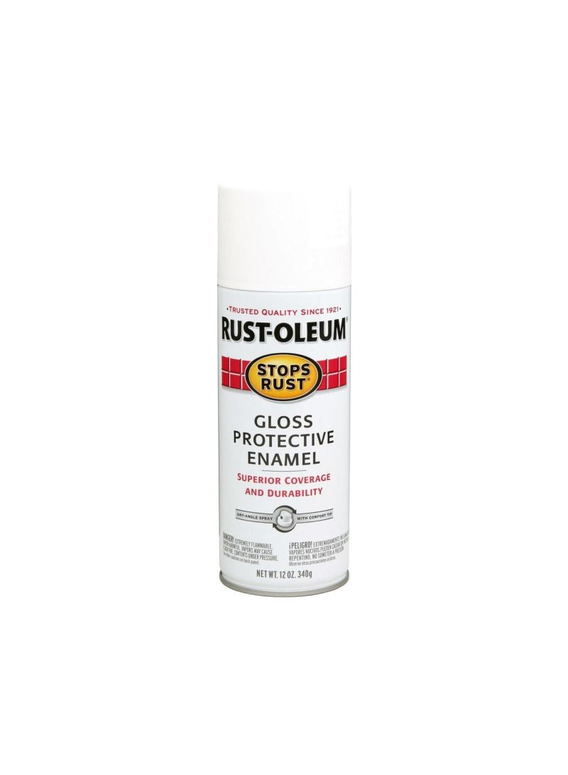 Shop Rust-Oleum Stops Rust Gloss Protective Enamel Spray Gloss White 354 88  ml online in Dubai, Abu Dhabi and all UAE