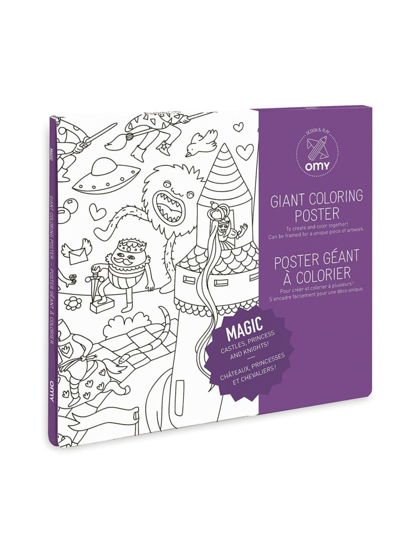 Shop omY Giant Coloring Poster - Magic 100x70 centimeter online in Dubai,  Abu Dhabi and all UAE