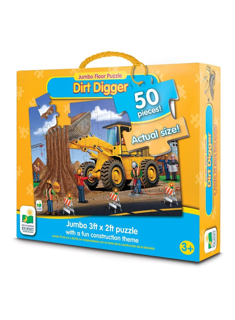 Shop THE LEARNING JOURNEY Jumbo Floor Puzzles - Dirt Digger online in  Dubai, Abu Dhabi and all UAE