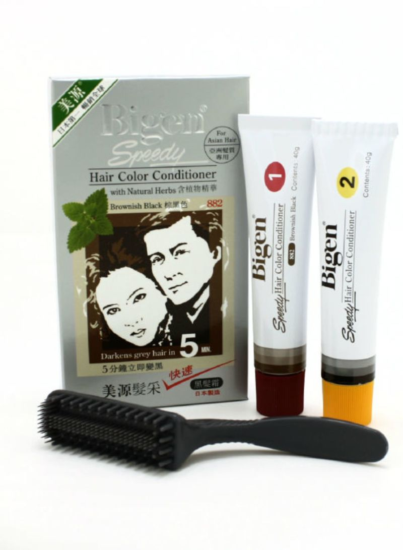 Just In 5 Minutes Henna Speedy Hair Color Cream Brownish Black