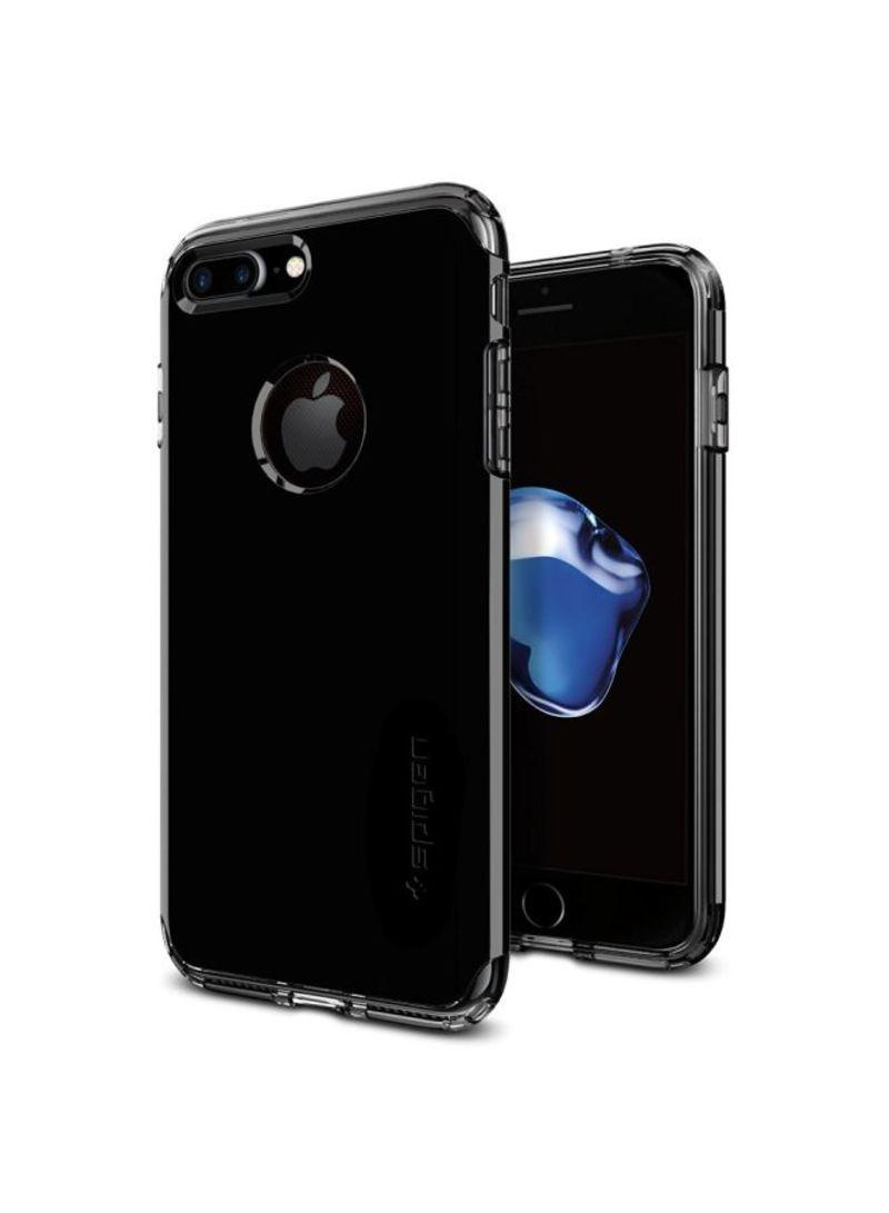 Hybrid Armor Cover Case For iPhone 8 Plus/iPhone 7 Plus Jet Black