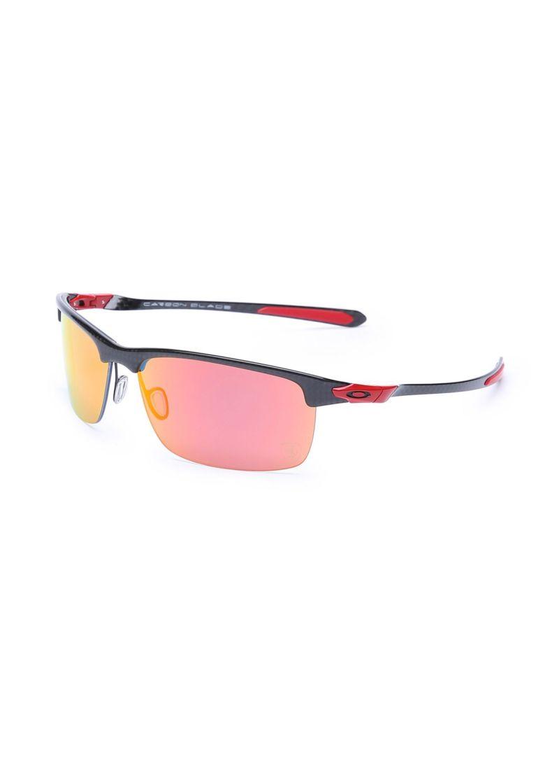 940e926855 Shop OAKLEY Men s Carbon Blade Scuderia Ferrari Sunglasses OK-9174 ...