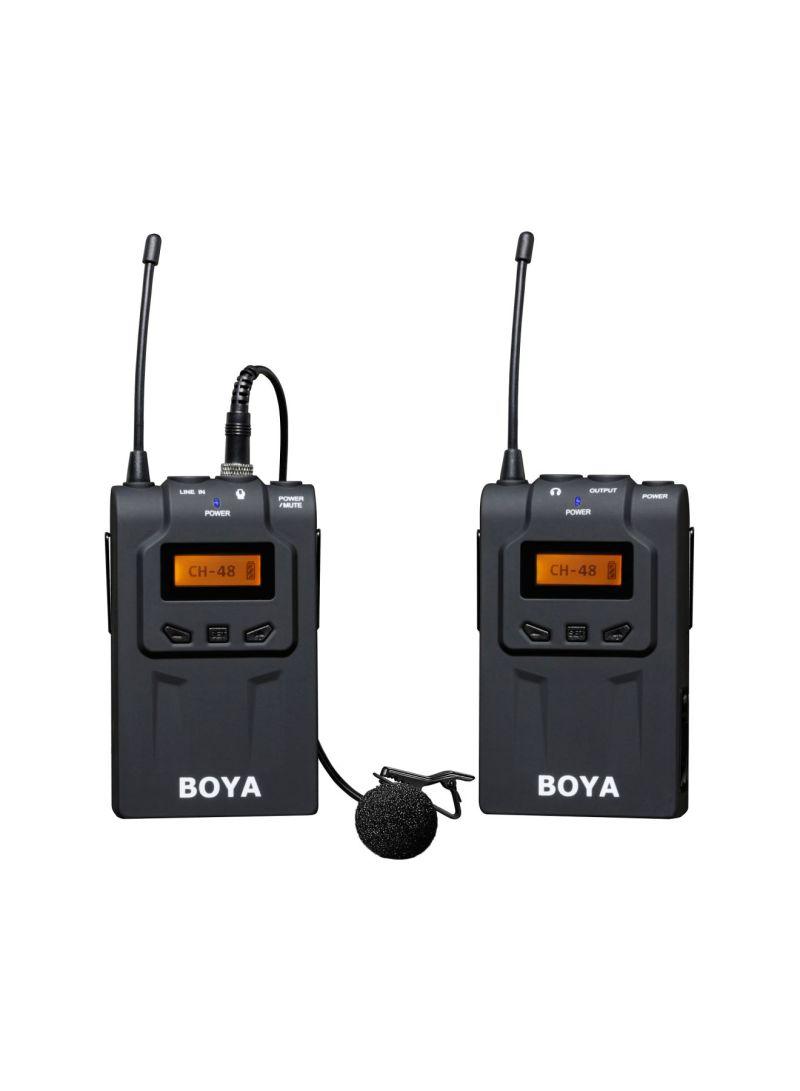 BOYA BY-WM6 Lavalier Clip UHF Wireless Microphone System Black