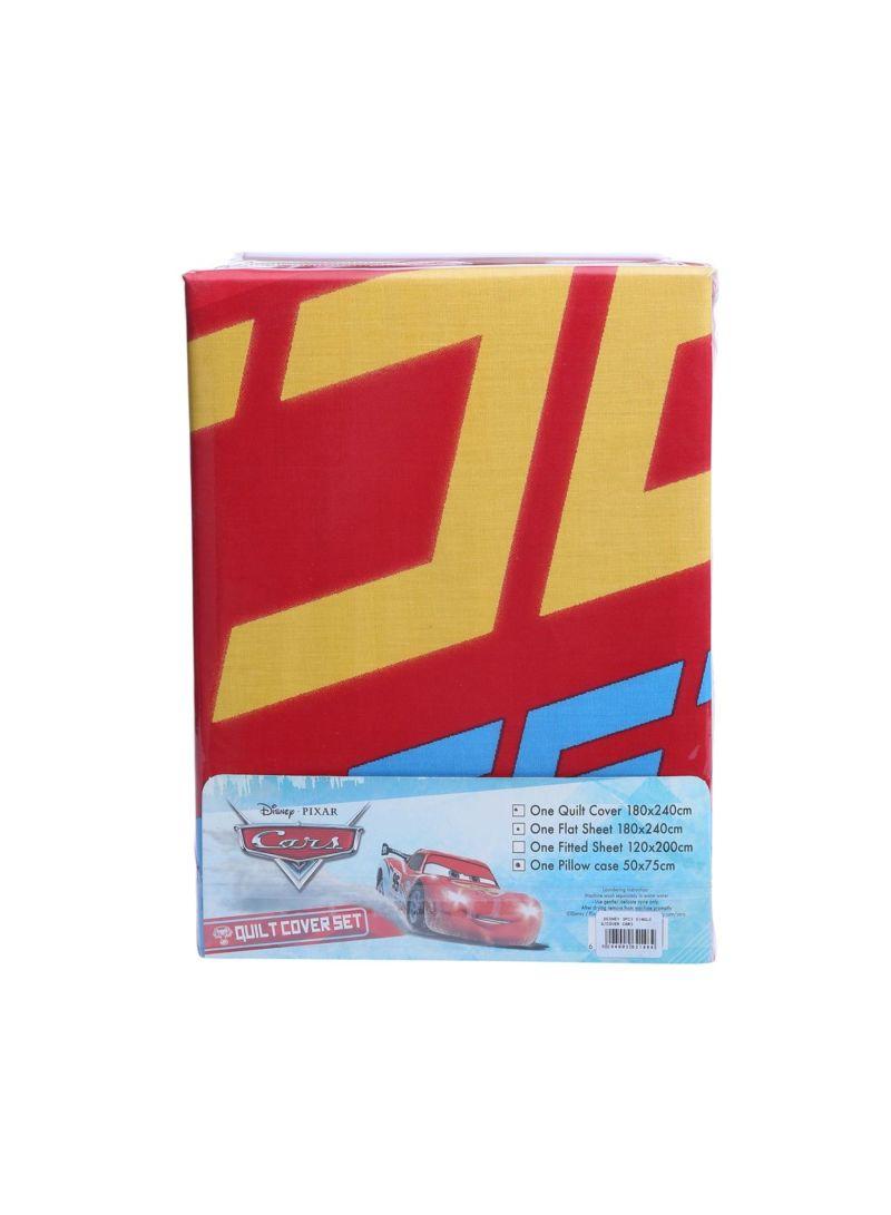 Shop Disney 3 Piece Cars Quilt Cover Set Cotton Multicolour Single