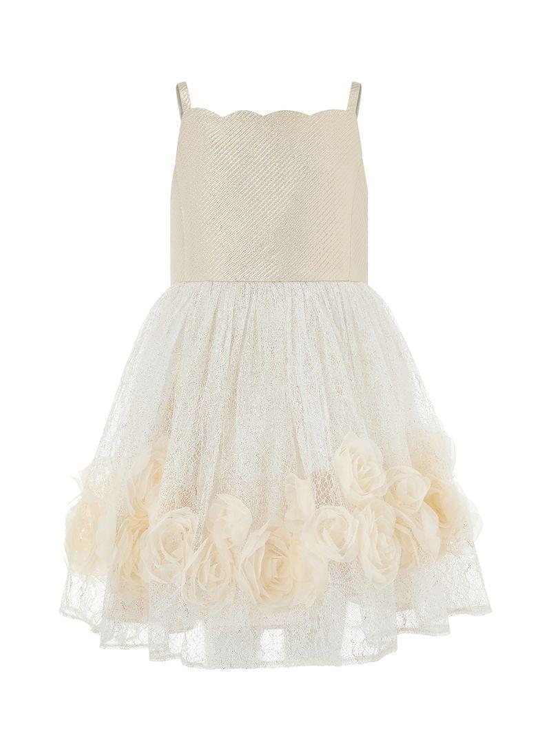 1b66af997466 Shop Monsoon Children Renee Rose A-Line Dress Gold online in Riyadh ...