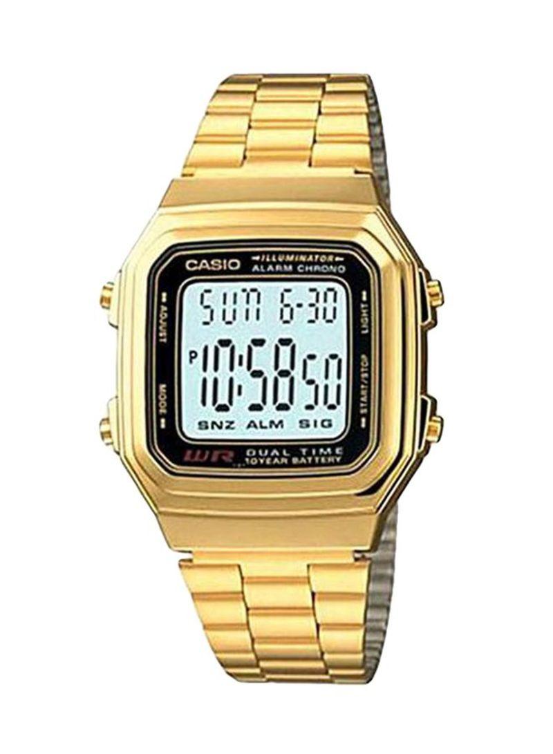 e6c26ff49ee03 اشتري ساعة يد كوارتز بعقارب وسوار جلدي طراز A178WGA-1ADF في السعودية