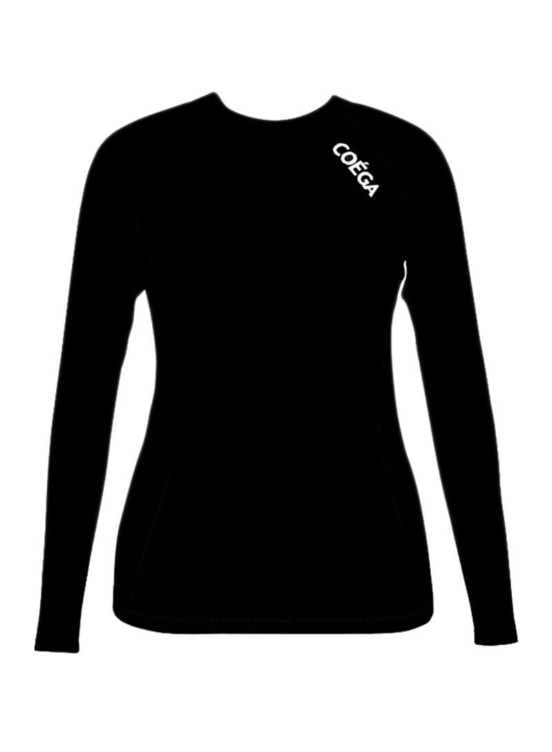 88d7cf9594 Shop COEGA Sunwear Rashguard Long Sleeve Swim T-Shirt Black online ...