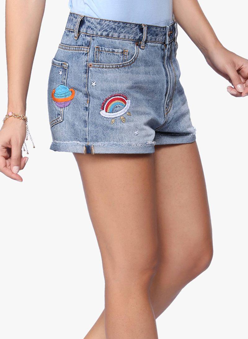 1a8b4d0d9 سعر شورتات جينز مطرزة أزرق فى الامارات | نون | شورتات | كان بكام