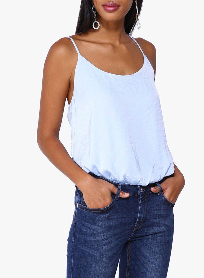 Shop Forever 21 Satin Cami Bodysuit Blue online in Dubai 93248882d