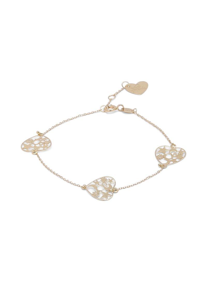 Shop damas Farfasha 18K Gold Heart Moon Stars Bracelet