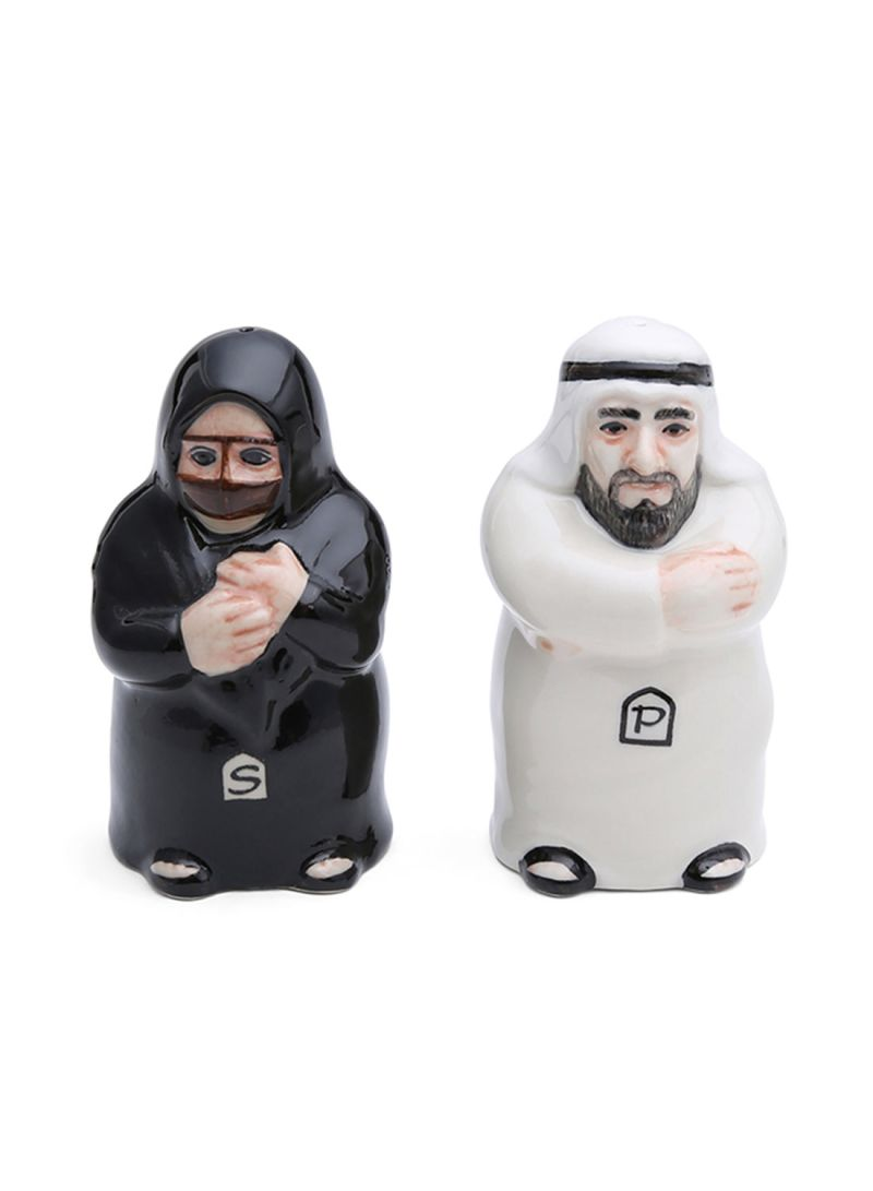 Arab Man And Woman Salt And Pepper Shaker Black White Price In Uae Noon Uae Kanbkam