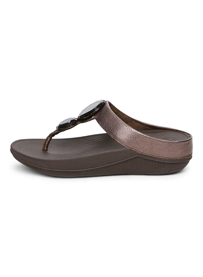 06808207e Shop fitflop Luna Pop Bronze Sandal online in Dubai
