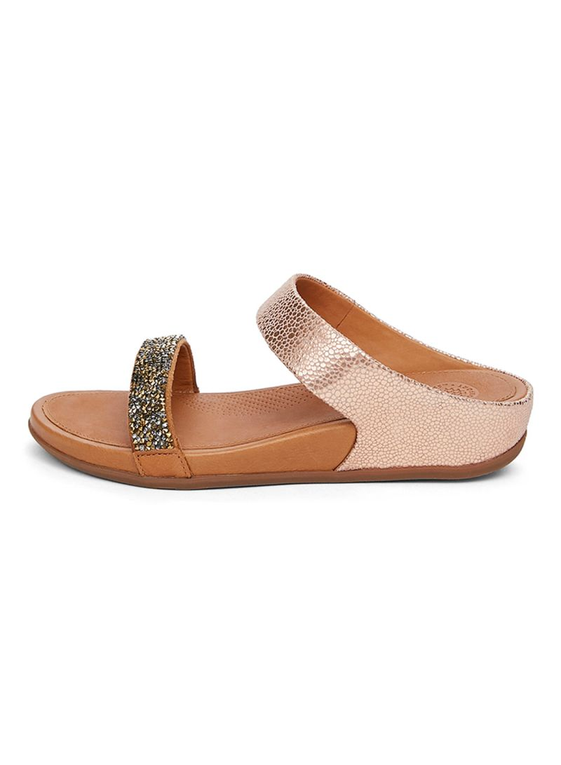 f10218016fb00d Shop fitflop Banda Roxy Bronze Slide Sandal online in Riyadh