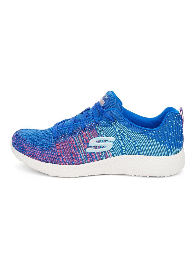 12437 Blhp Blue Pink Skechers chaussures Burst Memory Foam