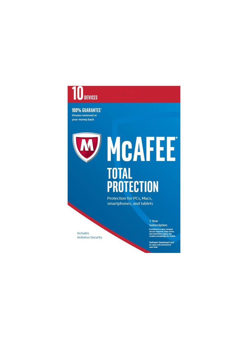 Shop McAfee Total Protection 2017 10 Users Blue online in
