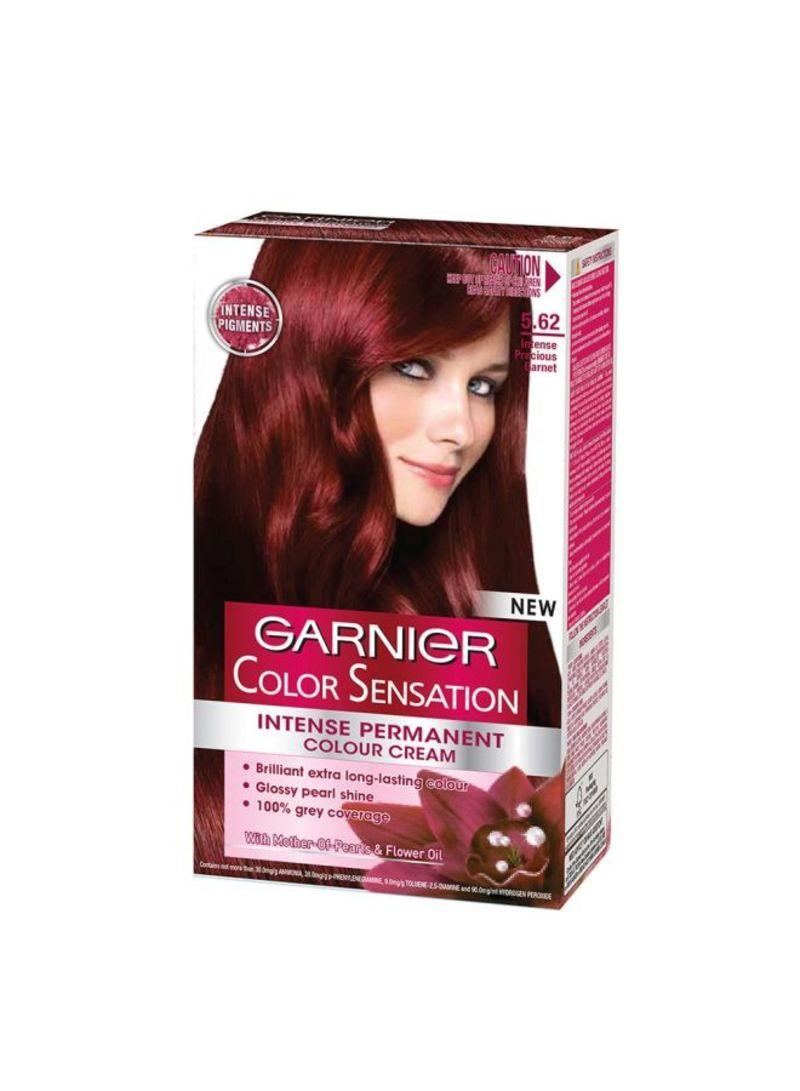 Shop Garnier Color Sensation Intense Permanent Hair Color Cream 5 62 Intense Garnet Red Online In Egypt