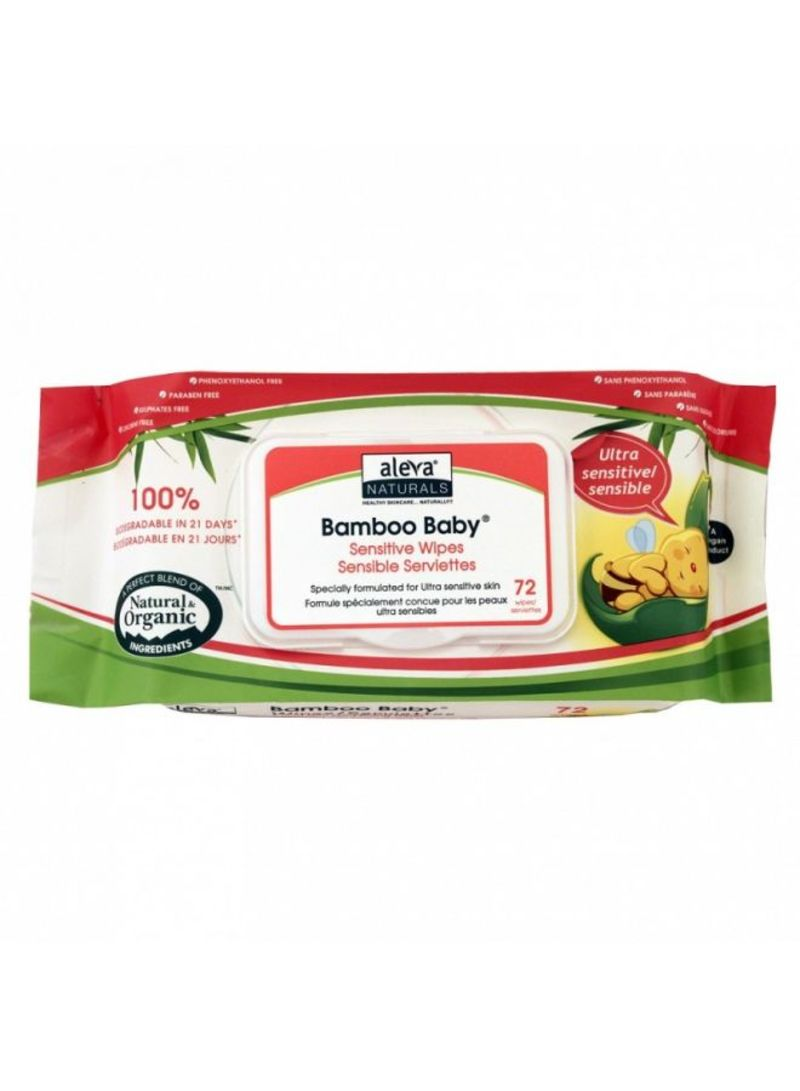 72-Pack Bamboo Baby Sensitive Wipes