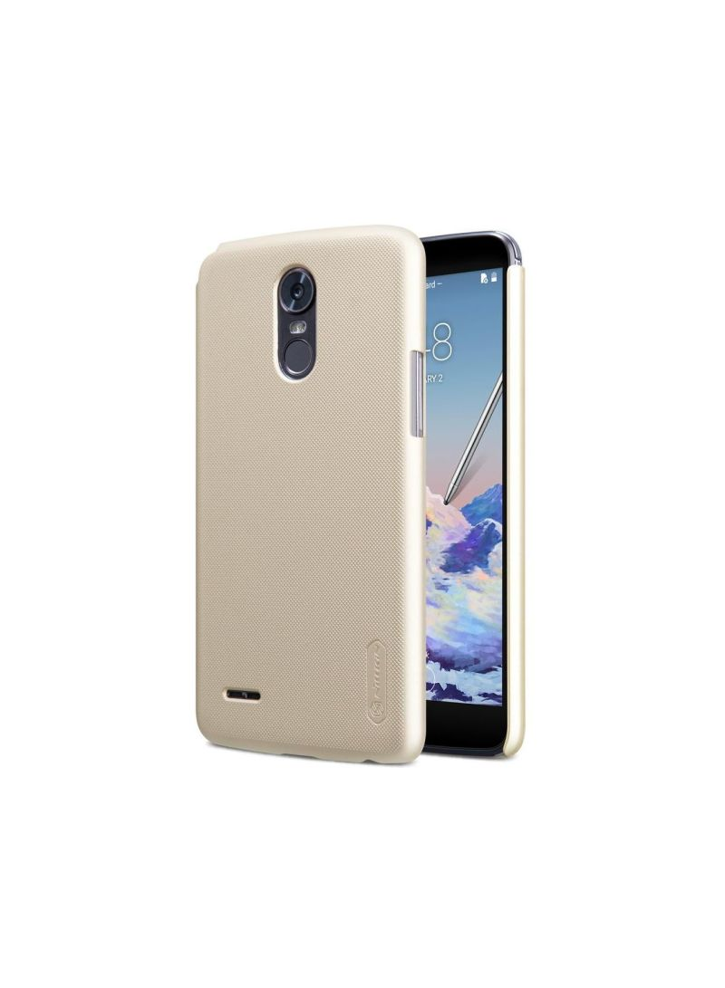 Buy Super Frosted Shield Back Case For LG Stylus 3 Gold in UAE