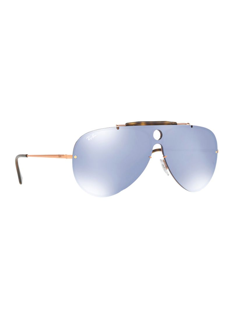 e0680250612 Shop Ray-Ban Aviator Frame Blaze Shooter Sunglasses RB3581N-90351U ...