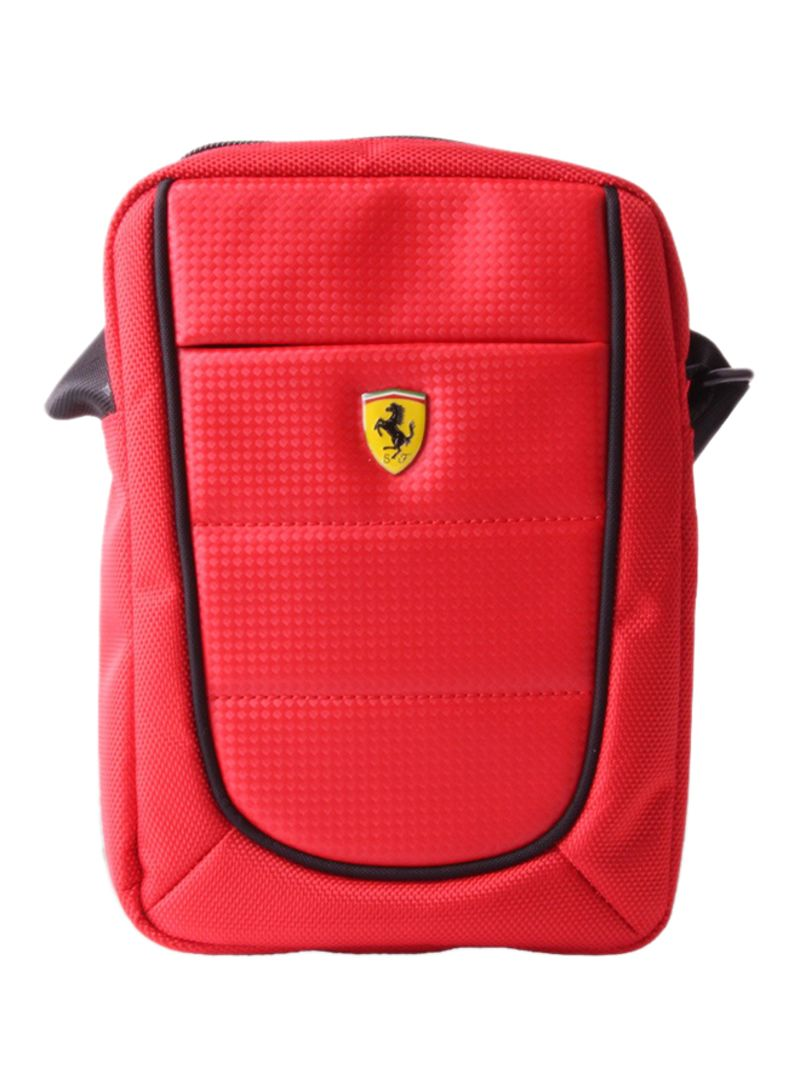 Scuderia Tablet Bag With Shoulder Straps Red 8 Inch