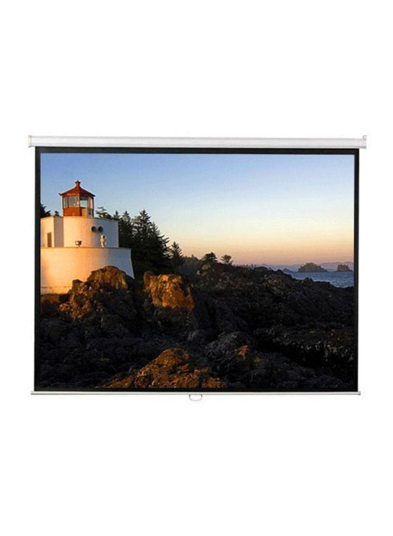 92 Inch Diagonal Manual Screen ANDMW 200 P