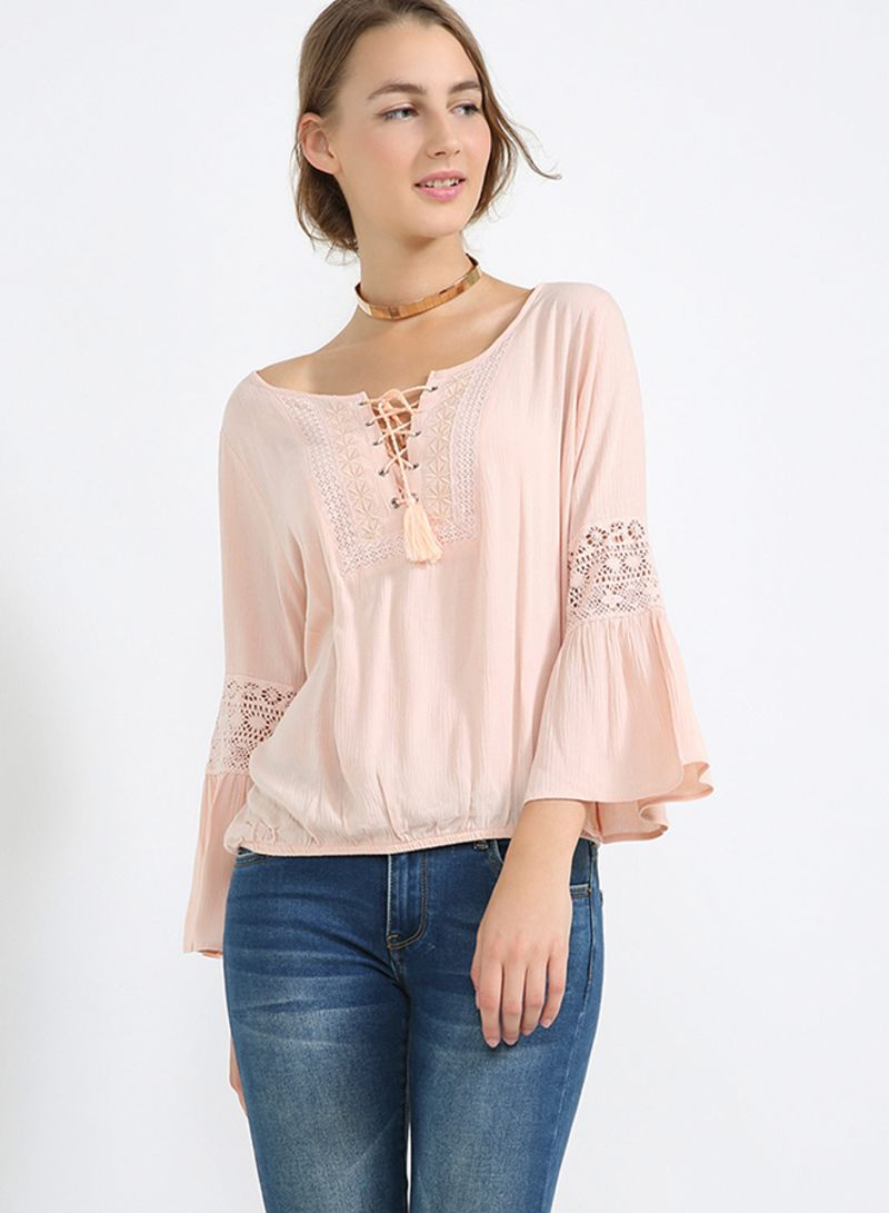 96746063b6b Buy Tie String Peasant Top Rose in UAE