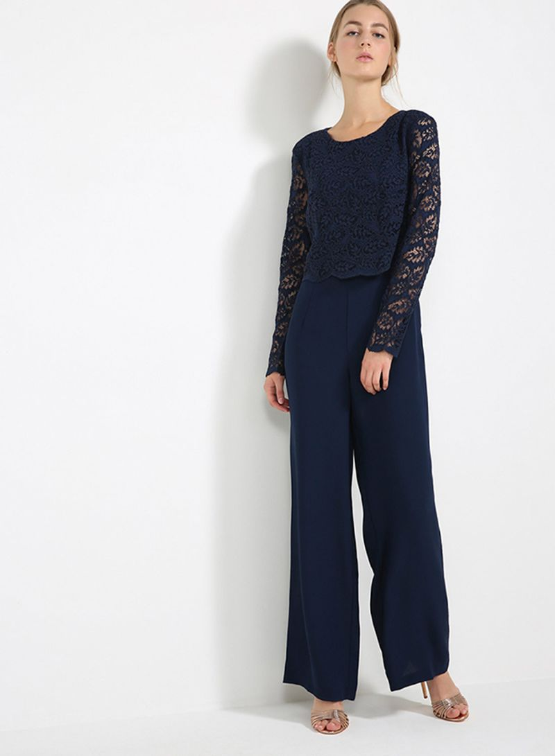 89c37812be19 Lace Top Jumpsuit Navy Price in Saudi Arabia