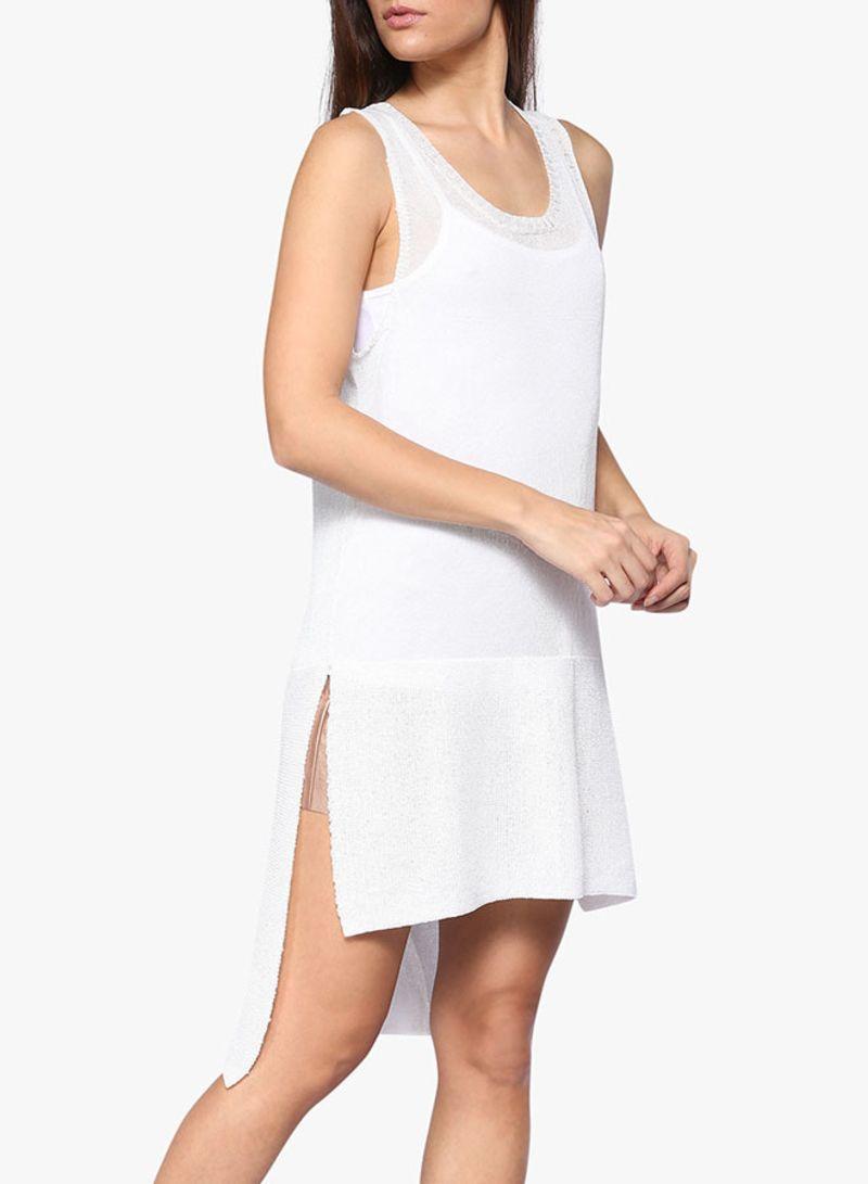 61fa252c97088 سعر بلوزة طويلة بدون أكمام بتصميم محبوك أبيض فى الامارات