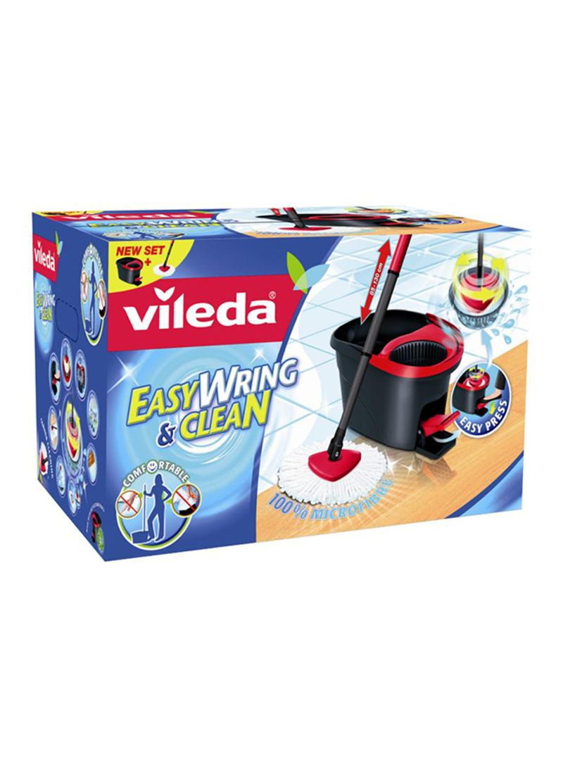Shop Vileda Easy Wring And Clean Turbo Mop Set Black Red Standard