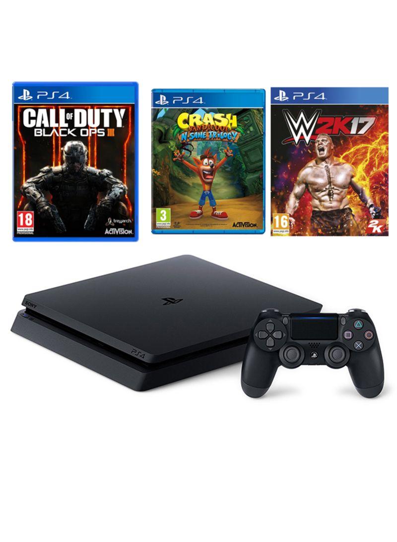 Playstation 4 Slim 500gb With 3 Games Crash Bandicoot Call Of