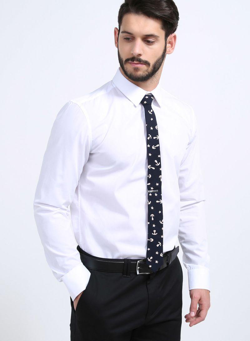8405729a9ad5 Shop Skinny Tie Madness Tong Po Tie Navy online in Riyadh, Jeddah ...