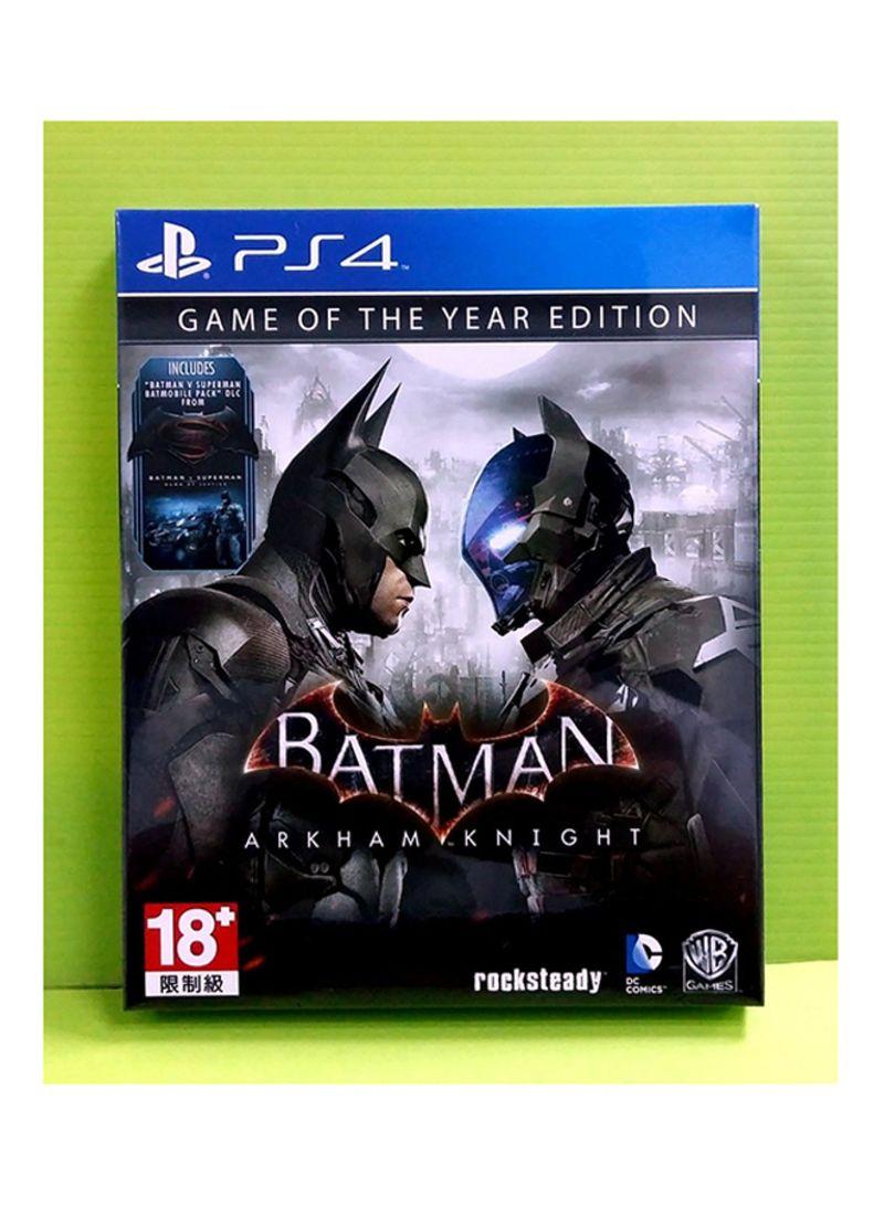 Batman Arkham Knight Game Of The Year Edition Playstation 4 By Return To Asylum Reg 3 Ps4